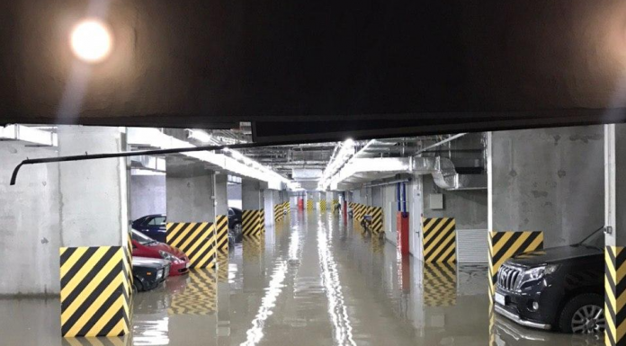Considering the trouble that brought the powerful shower — someone flooded underground Parking