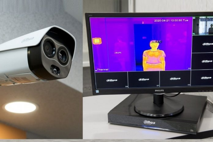 Factories began installing thermal imaging cameras for temperature measurement. of employees: seen on monitor
