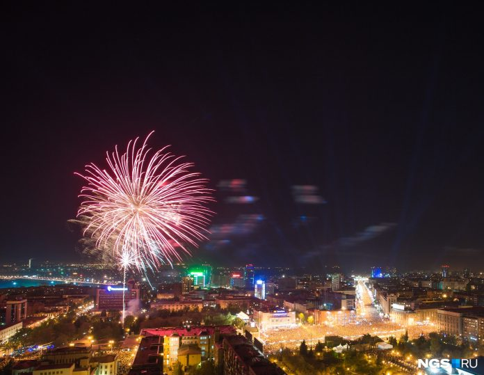 NGS will show the live broadcast of the fireworks in honor of the Victory parade in Novosibirsk