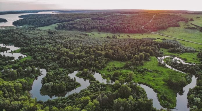 Novosibirsk blogger took video of an unusual river Cohen — from the height looks amazing