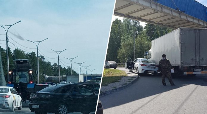 """""""Terrible collapse"""": Berdskoye highway stood in a giant tube in the direction of the Ob sea"""
