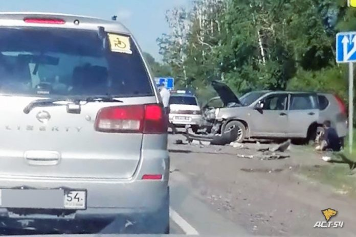The jeep was killed crossing the road and moose rammed the car straight ahead