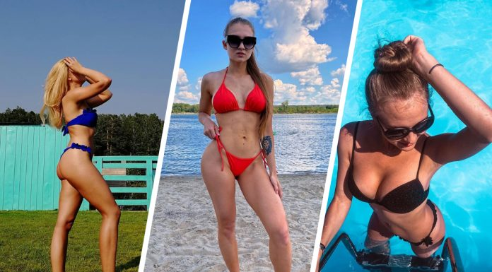 The heat came: 10 incredible beauties in bikinis on the beaches of Novosibirsk