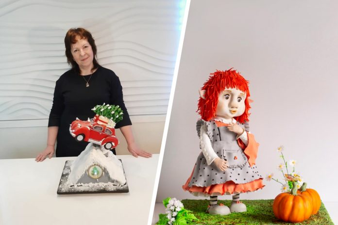 The pastry chef from Novosibirsk made a cake in the form of a girl-Troll for the sake of the British competition