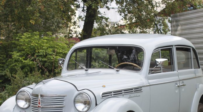 """Consider the """"Moskvich"""", 1956 edition, which accelerates to 100 km/h. What's in the cabin?"""