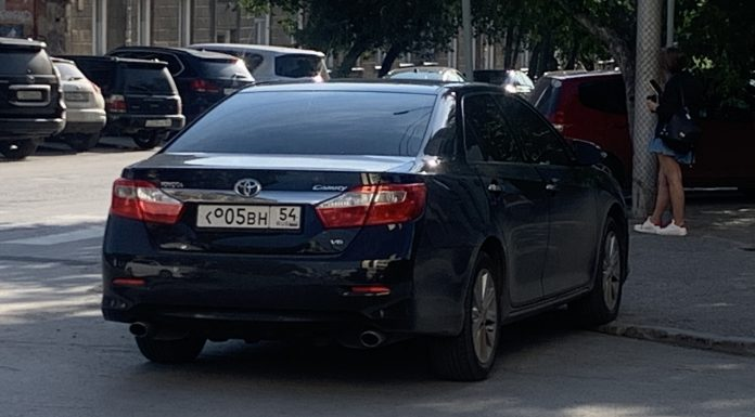 """Genius Parking. Look how rude the driver got black """"Camry"""" and as he wiped the license plate from traffic cameras"""