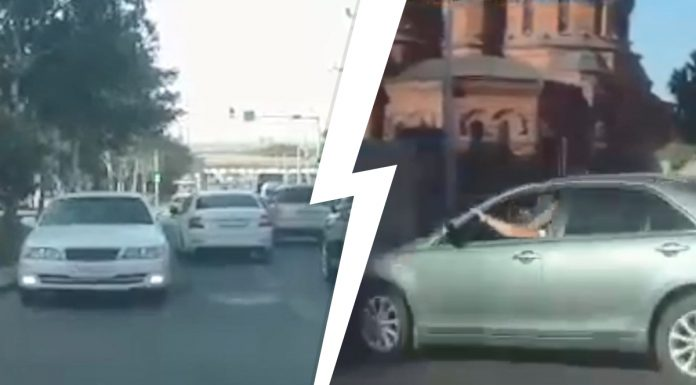 The Toyota crossed into the oncoming lane of red Avenue and got on DVRs