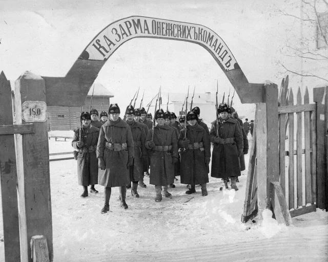 As the Americans fought against the Bolsheviks in the Russian North