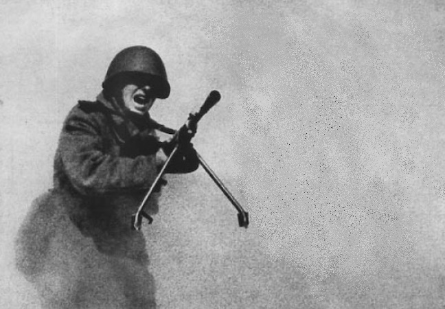 Attack of Dmitry Kamolikova: as one paratrooper was scared of the platoon of Germans