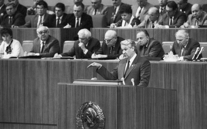The scandal at the October Plenary session, 1987: say that Yeltsin