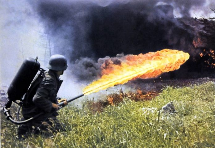 Why the Germans were afraid to use flamethrowers in battle in the Great Patriotic