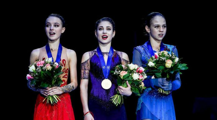 Approved team Russia at the world figure skating Championships
