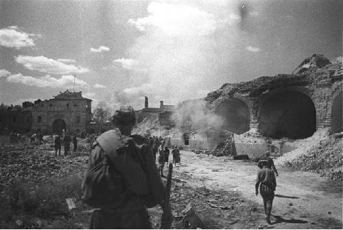 As the Red Army stormed the fortress in 1944