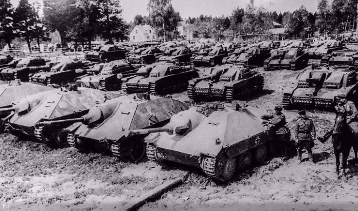 As the Red Army used captured German tanks