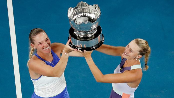 Australian Open. Babos and Mladenovic won the final women's duet
