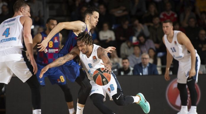 """Basketball. """"Zenith"""" on departure has lost to FC Barcelona in the Euroleague"""