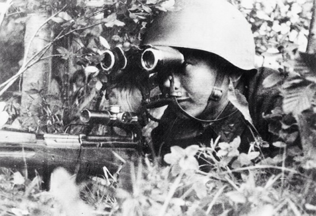 Buryat as a sniper shot down two German aircraft