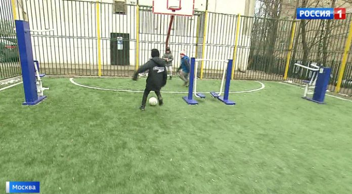 Conflict areas: the Lublin outdoor fitness equipment set football box
