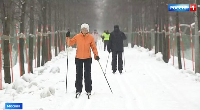 """""""Finally!"""": Muscovites were delighted blizzards, despite the ice and tube"""