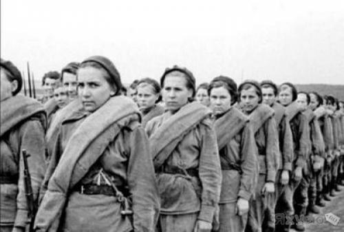 For the women at the front could send to Shtrafbat