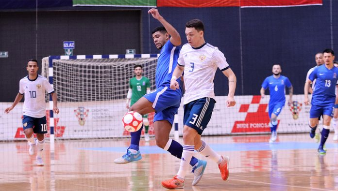 Mini-football. The Russians lost Azeris in world Cup qualifying