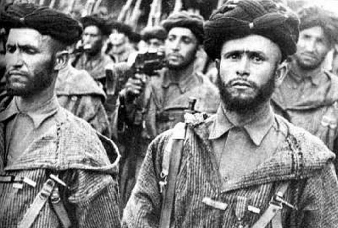 Moroccan gomery: what did the most terrible soldiers of the Second world