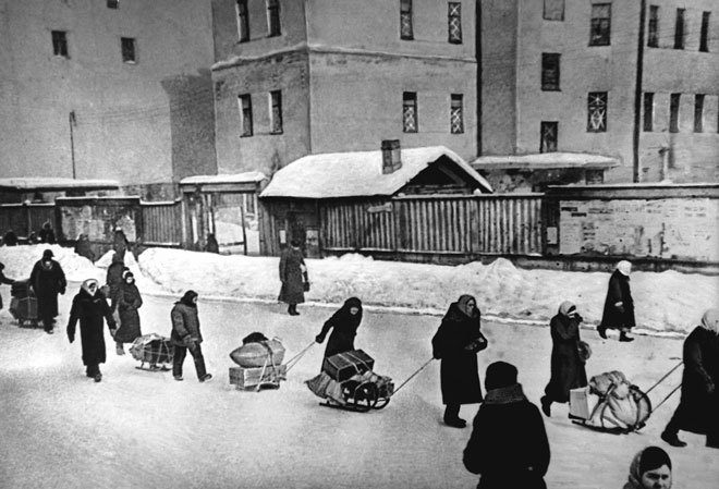Some residents of besieged Leningrad was impossible to leave town