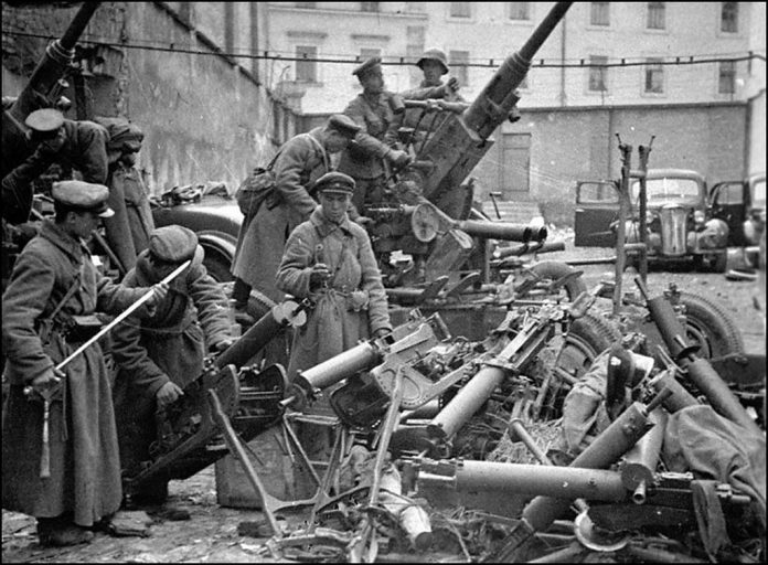 The Lviv incident as the soldiers first fired at the soldiers of the Wehrmacht