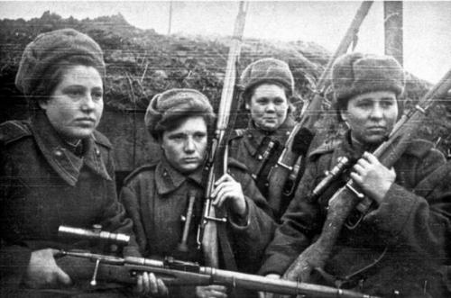The Soviet female snipers surpassed shooters-men