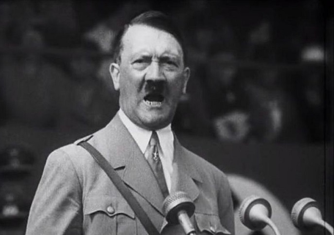 What Hitler said during a recent speech on the radio