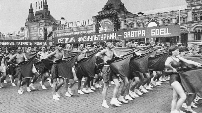 When the red square was allowed processions nudists