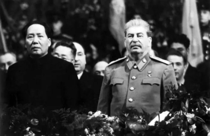 Which areas China wanted to take the USSR after Stalin's death