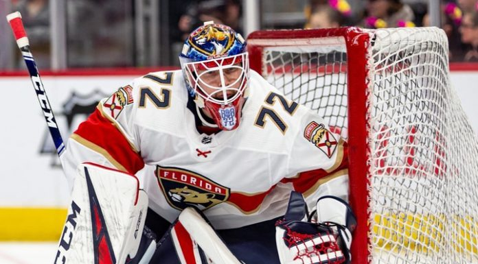"""35 saves, one transfer: Bobrovsky dadonov and not rescued """"Florida"""" from defeat """"kings"""""""