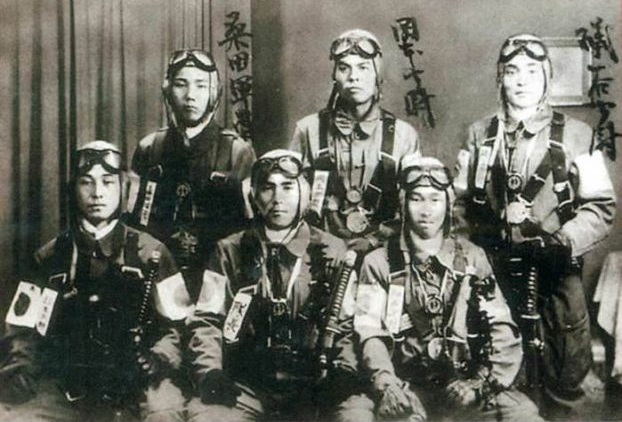 As Japanese bombers attacked the US Navy on the aircraft-rockets