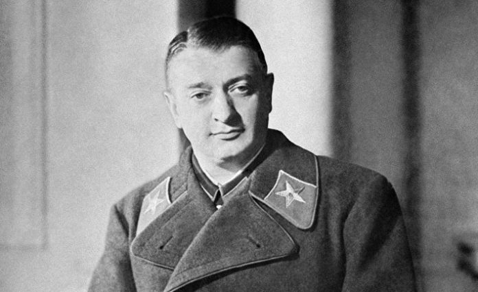 As the security service of Hitler provoked the arrest of Tukhachevsky