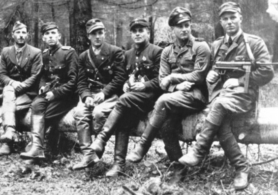 Bandera on Monday, as they defeated the NKVD in the Great Patriotic