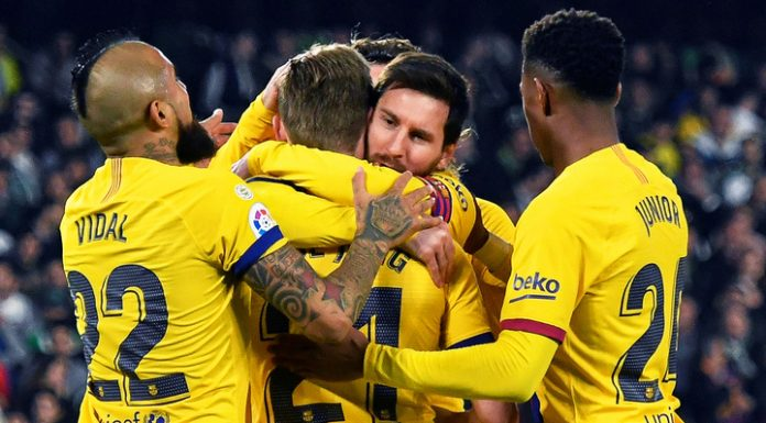 """""""Barcelona"""" has won strong-willed victory after three assists Messi"""