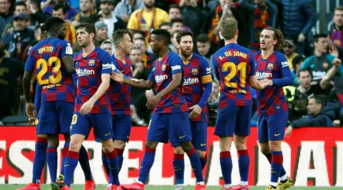 """""""Barcelona"""" home beat """"Getafe"""" in the championship match of Spain"""