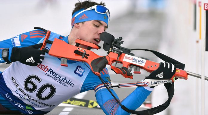 Biathlete Nikita Porshnev will perform in the sprint at the world Cup