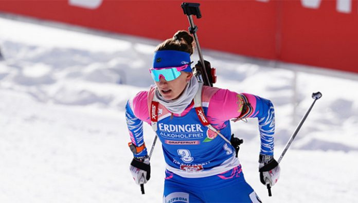 Biathlon. Mironov became the first Russian female will