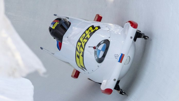 Bobsled. The Russians Sergeeva and Mamedov won the European championship