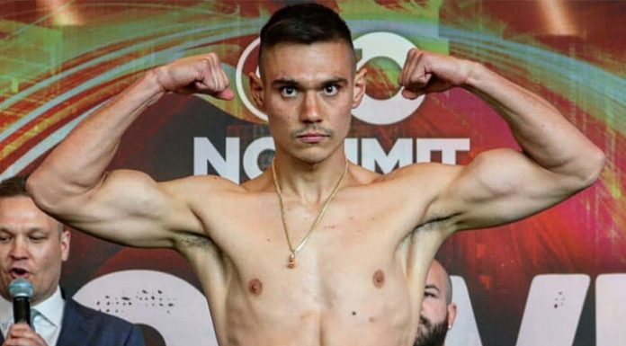 Boxing. Son Kostya Tszyu Timothy come to blows with the former world champion