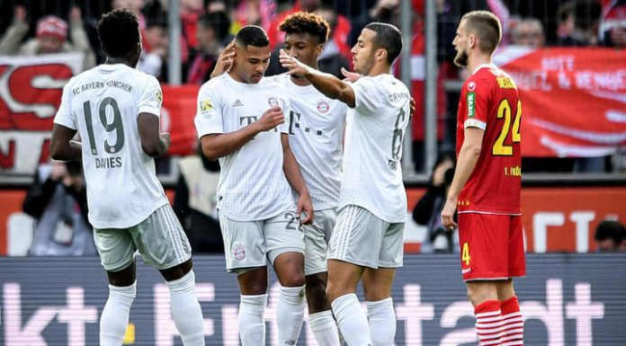 """Bundesliga. """"Bavaria"""" defeated """"Cologne"""" thanks to the double Gnabry"""