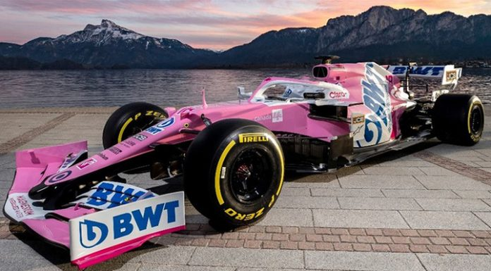 Formula 1. Team Racing Point appeared in pink color