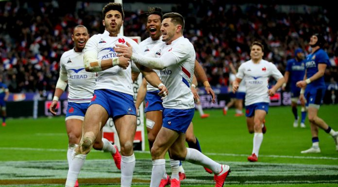 French Rugby players went to the leaders of the six Nations