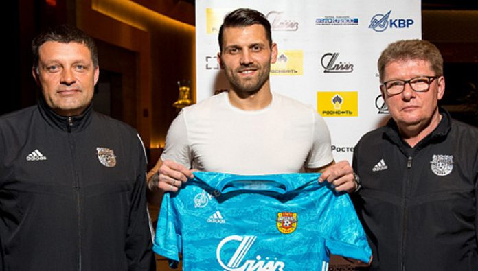 Goalkeeper Yuri Lodygin has signed a contract with the Tula