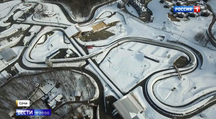 """Gold """"Formula 1"""" on the ice in Sochi: the Russian Luge world Cup showed skills on the bends"""