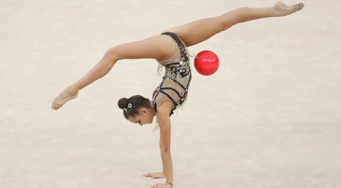Gymnast Dina Averina won the all-around at the Grand Prix in Moscow