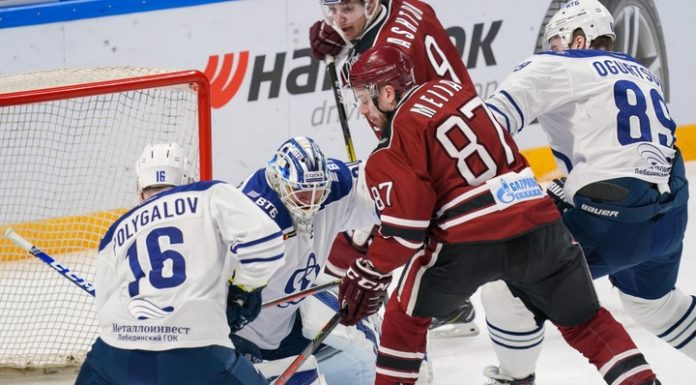 """Hockey players of Moscow """"Dynamo"""" in overtime beat team from Riga"""
