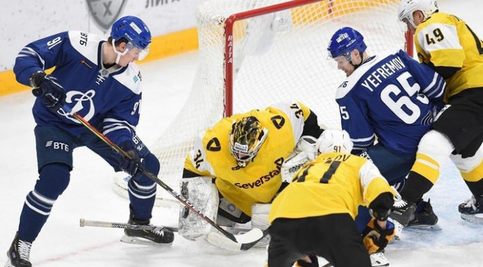 """Hockey players """"Severstal"""" has defeated Moscow """"Dynamo"""" in the shootout"""